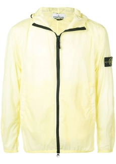 Stone Island logo zipped jacket