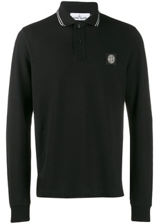 Stone Island long-sleeve polo shirt