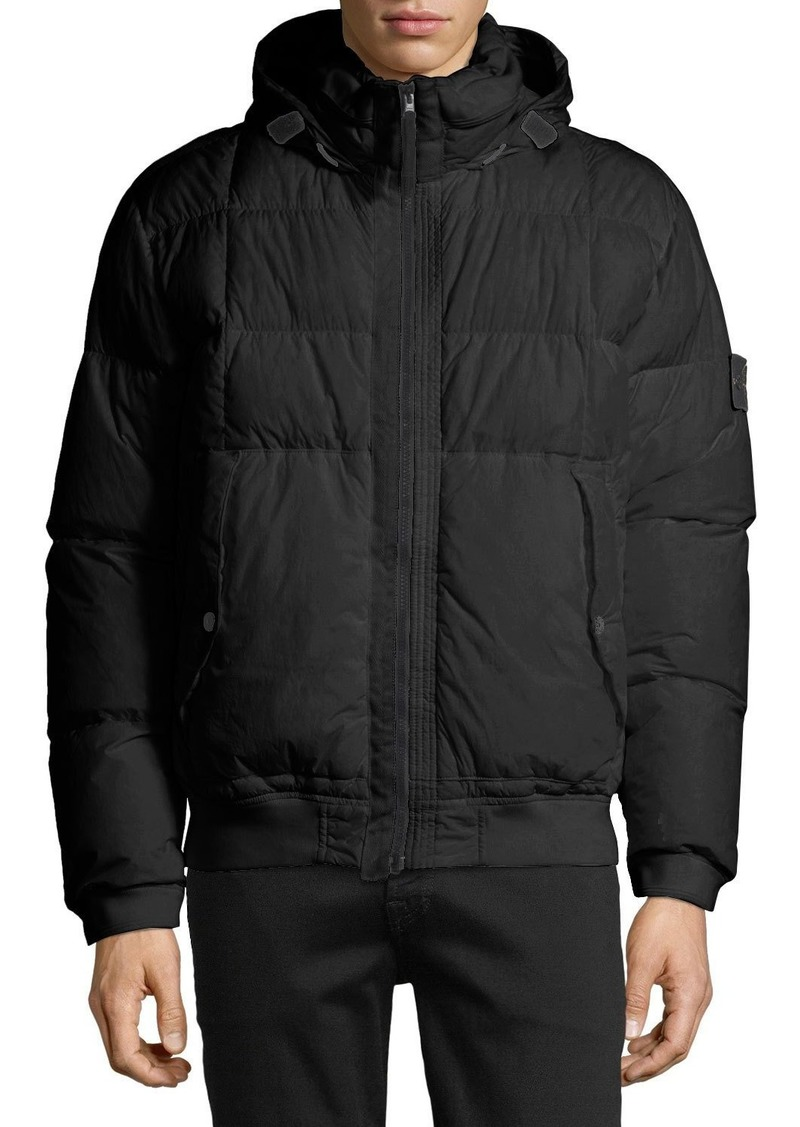 a65ce3390 Stone Island Men's Down Bomber Puffer Jacket   Outerwear