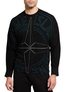 Stone Island Men's Logo-Stitch Crewneck Sweater