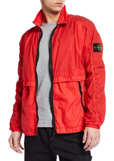 0327ba4fa Stone Island Men's Nylon Wind-Resistant Jacket