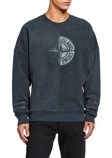 Stone Island Men's Spliced Logo Sweatshirt