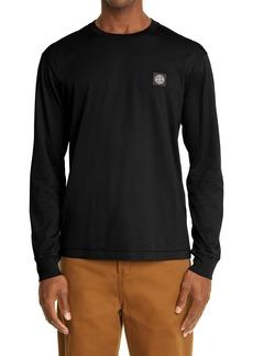 Men's Stone Island Logo Patch Cotton T-Shirt