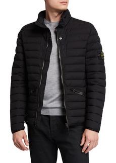 Stone Island Men's Zip-Front Puffer Coat