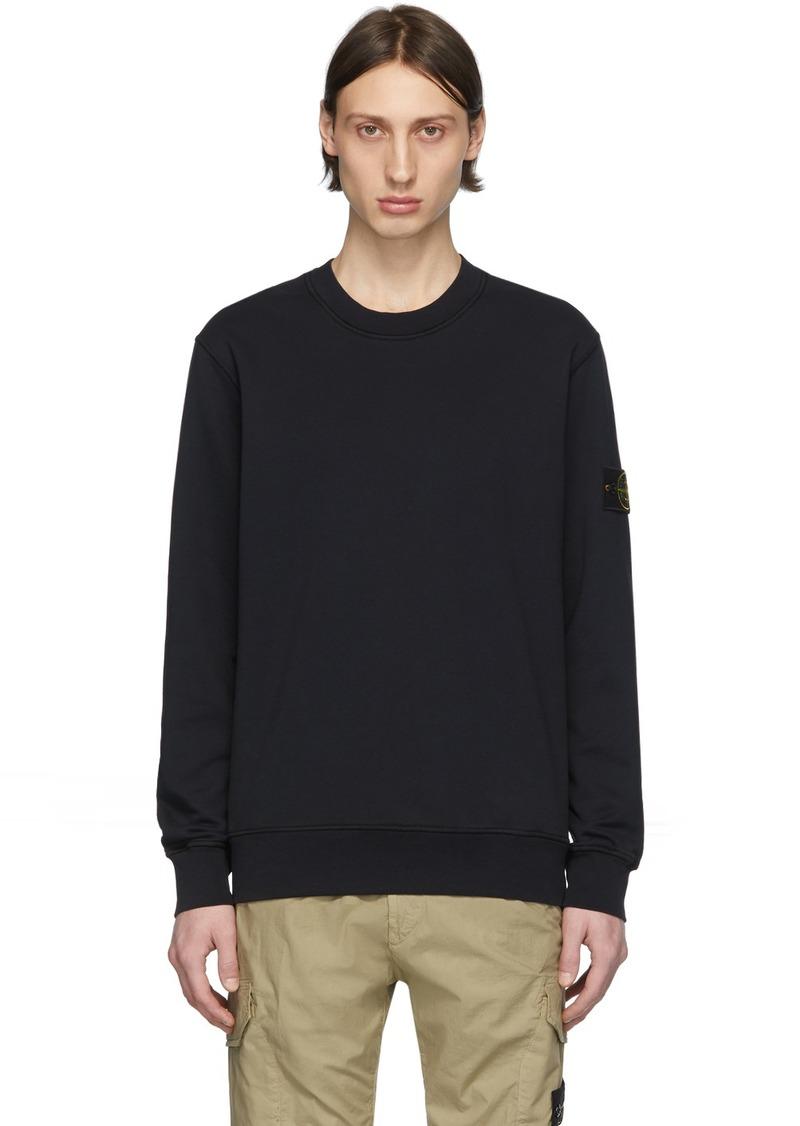 Stone Island Navy Garment-Dyed Sweatshirt