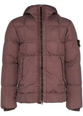 Stone Island padded hooded zip jacket
