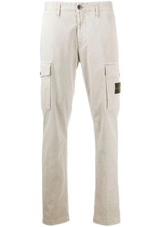 Stone Island plain cargo trousers