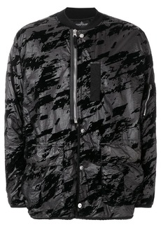 Stone Island printed button bomber jacket