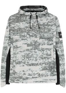 Stone Island printed hooded jacket