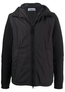 Stone Island removable sleeve hooded jacket