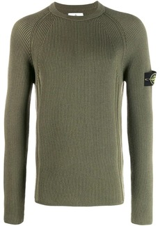 Stone Island ribbed long sleeve jumper