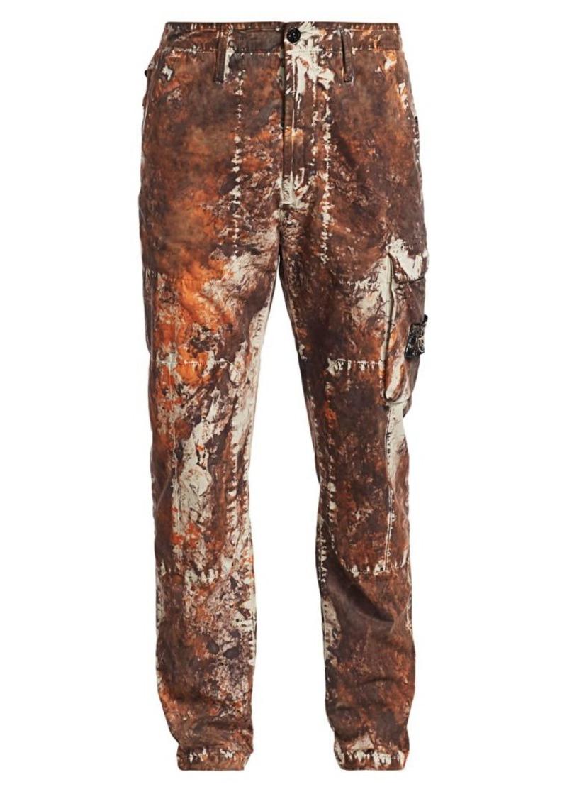 Stone Island Slim Marble Print Cargo Pants
