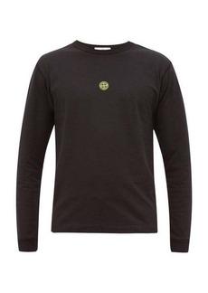 Stone Island Airbrush-logo cotton T-shirt