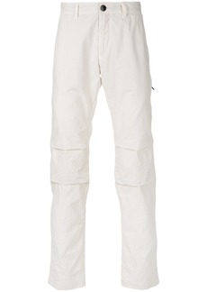 Stone Island articulated knee chino trousers - White