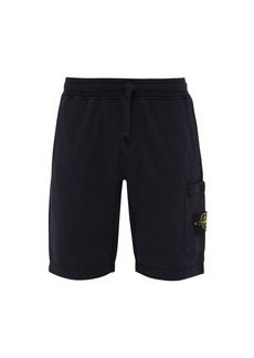 Stone Island Mid-rise cotton shorts