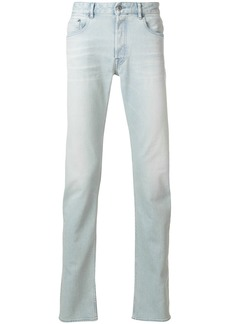 Stone Island bleached straight jeans - Blue