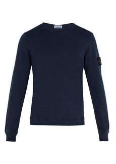 Stone Island Crew-neck cotton sweatshirt