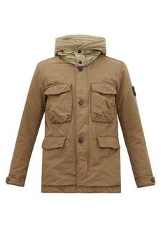 Stone Island David logo-patch hooded field jacket