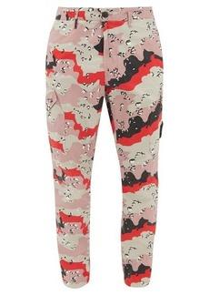 Stone Island Desert Camo-print cotton-tela trousers