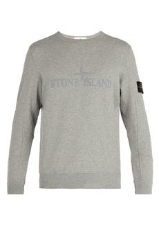 Stone Island Embroidered cotton-jersey sweatshirt