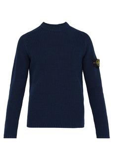 Stone Island Fisherman-knit cotton sweater
