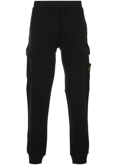 Stone Island fleece pocketed trousers - Black