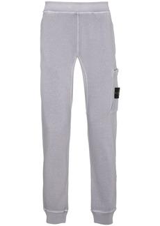 Stone Island garment dyed cotton sweat pants - Pink & Purple