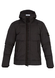 Stone Island Hooded down-quilted jacket