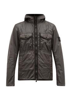 Stone Island Hooded technical nylon jacket