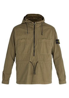 Stone Island Lightweight crinkled hooded jacket