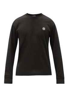 Stone Island Logo-appliqué cotton long-sleeved T-shirt