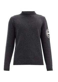 Stone Island Logo-embroidered wool-blend sweater