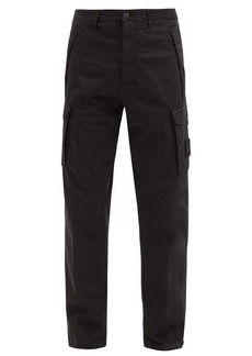 Stone Island Logo-patch cotton-blend cargo trousers