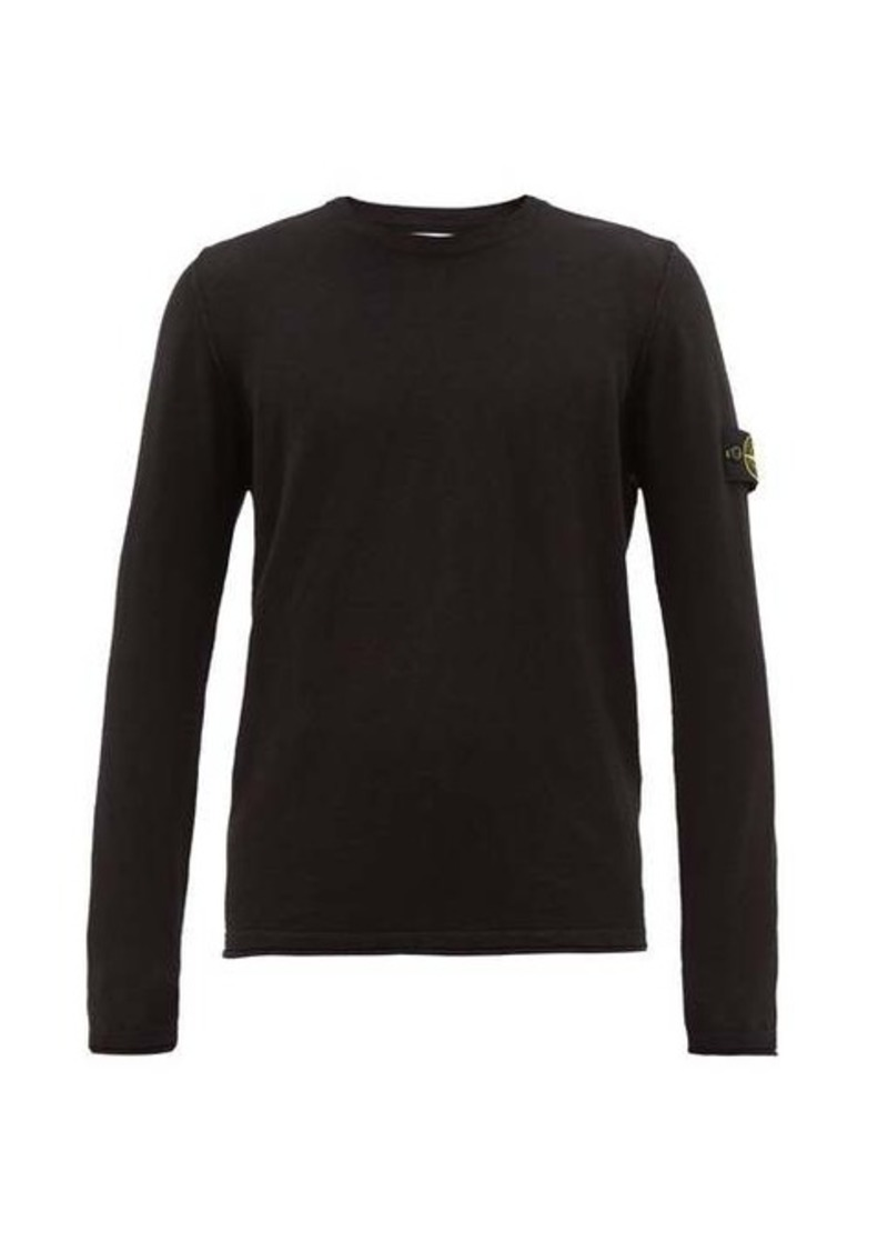 Stone Island Logo-patch cotton-blend sweater