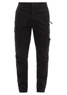 Stone Island Logo-patch cotton-blend twill cargo trousers