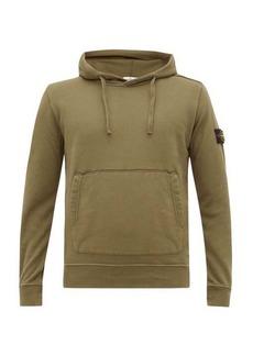 Stone Island Logo-patch cotton hooded sweatshirt