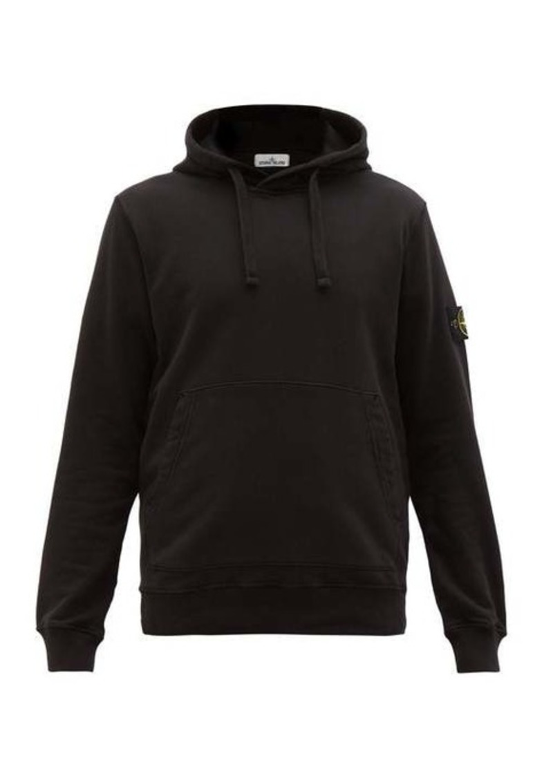 Stone Island Logo-patch cotton-jersey hooded sweater