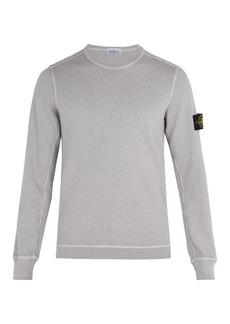 Stone Island Logo-patch cotton-jersey sweatshirt