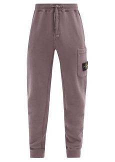 Stone Island Logo-patch cotton-jersey track pants