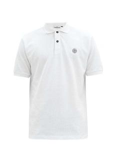Stone Island Logo-patch cotton-piqué polo shirt