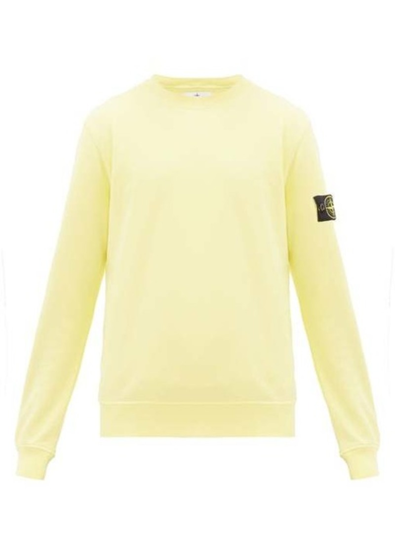 Stone Island Logo-patch cotton sweater