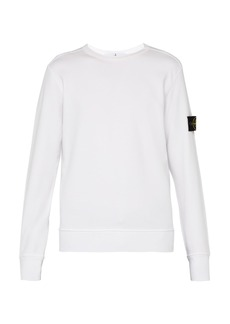Stone Island Logo-patch cotton sweatshirt
