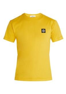 Stone Island Logo-patch cotton T-shirt