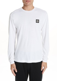 Stone Island Logo Patch Long Sleeve Cotton Tee
