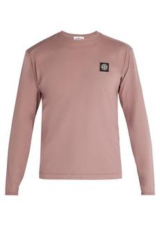 Stone Island Logo-patch long-sleeved cotton T-shirt