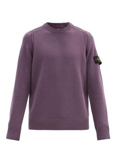 Stone Island Logo-patch ribbed wool-blend sweater