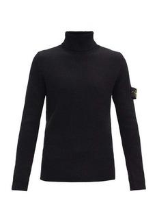 Stone Island Logo-patch roll neck wool sweater