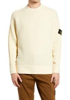 Stone Island Logo Patch Slim Fit Knit Sweater