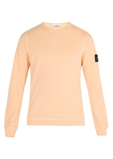 Stone Island Logo-patch slub cotton-jersey sweatshirt