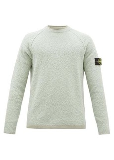 Stone Island Logo-patch terry-effect cotton-blend sweatshirt